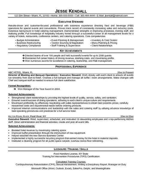 Banquet Steward Sle Resume by Swot Analysis Resume And Chefs On