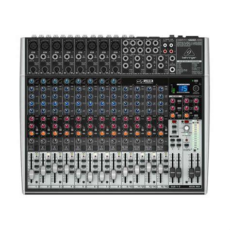 Jual Usb Audio Mixer jual behringer xenyx 2222 usb mixer audio harga