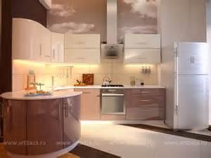 дизайн кухни гостиной в светлых тонах фото