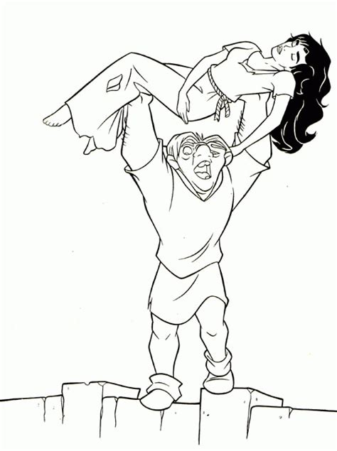 hunchback of notredame coloring pages coloringpagesabc com