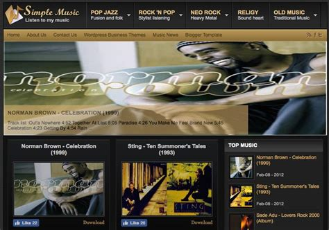 johny simple music blogger template 2014 free download