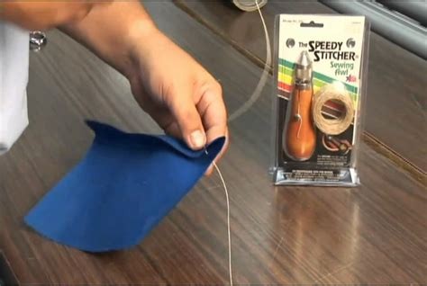 how to sew leather upholstery sewing awl kit speedy stitcher youtube