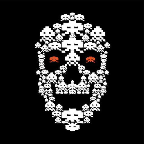 Skull Space space invader skull up up left right left