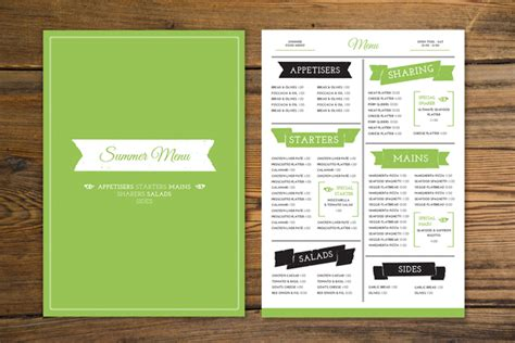Free Menu Card Template Indesign by How To Create A Tasty Trendy Menu Card In Adobe Indesign