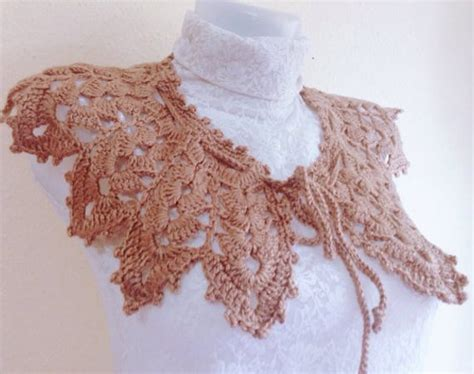 pattern crochet lace collar beginner pattern crochet collar lace scarf for women