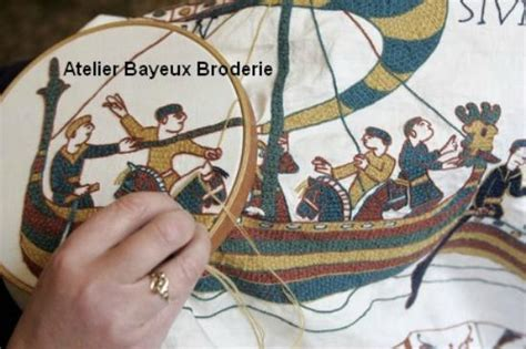 Tapisserie De Bayeux Reproduction by Atelier Bayeux Broderie Broderie Reproduction De La