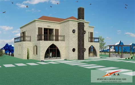 Chalet House Plans traditional lebanese villa in the zaarour arch amp arts