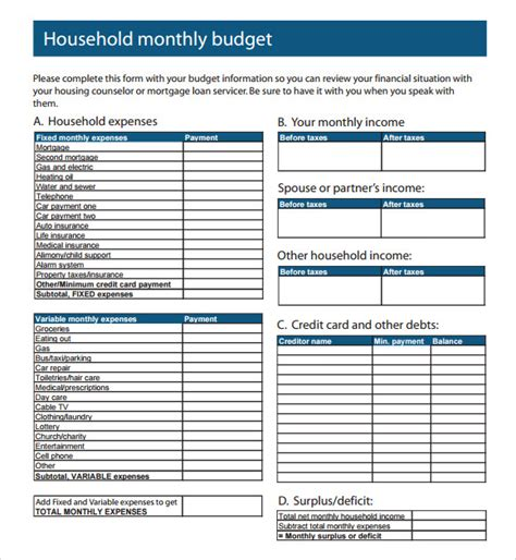 budget template gatewaytogiving org