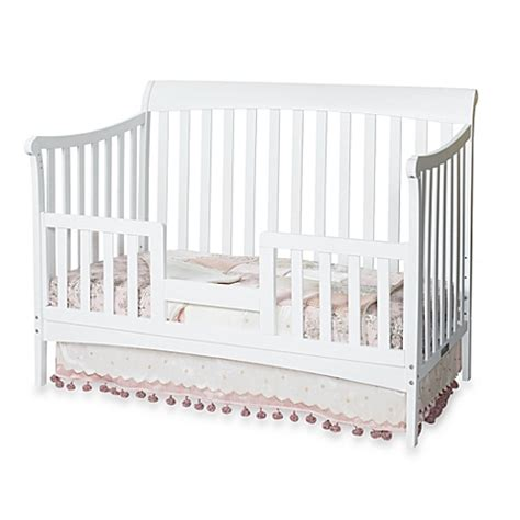Convertible Crib Bed Rails by Child Craft Toddler Guard Rail For Convertible Cribs In White
