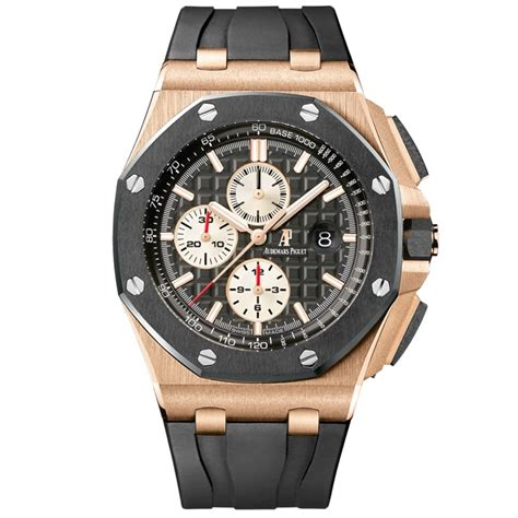 Audemars Piguet Roo Black Silver audemars piguet royal oak offshore 44mm gold at