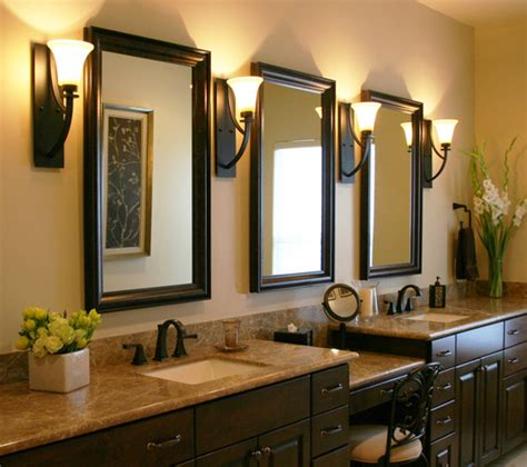 bathroom lighting and mirrors design traditional bathroom
