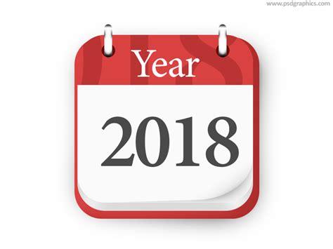 Kalender 2018 Psd Year 2018 Calendar Icon Psd Psdgraphics