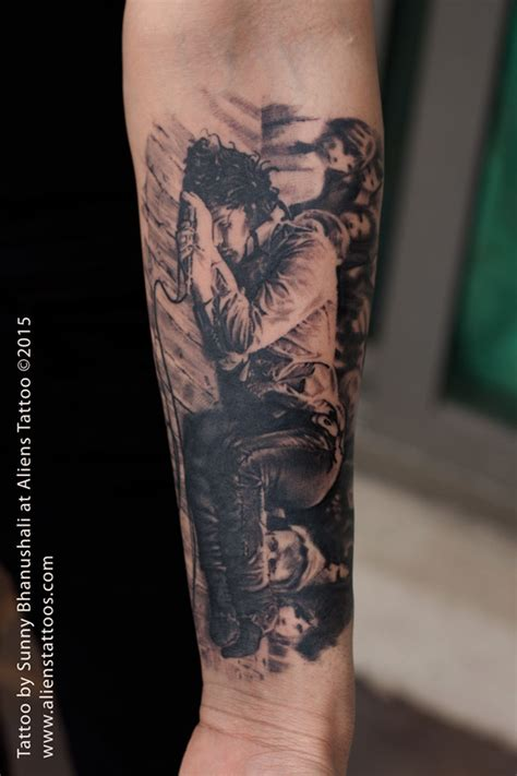 jim morrison tattoo by sunny bhanushali at aliens tattoo india