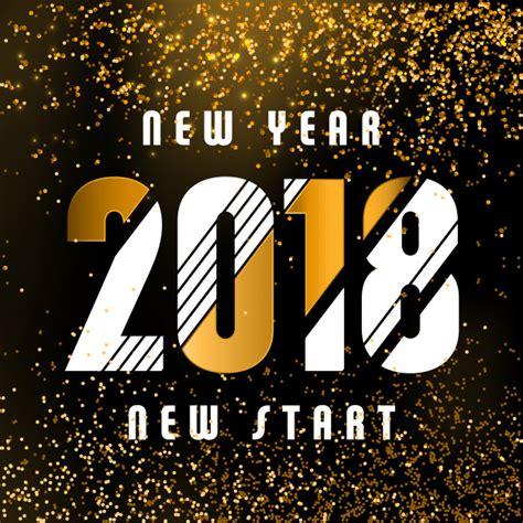 new year 2018 start 2018 calligraphic new year greeting design white and