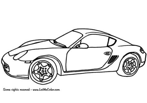 Auto Design Vorlage Ausmalbilder Autos Porsche Cayman Kostenlos Zum Ausdrucken