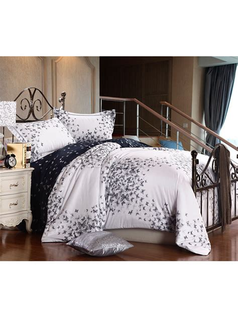 high thread count comforter butterfly dancing 4 piece high thread count cotton bedding