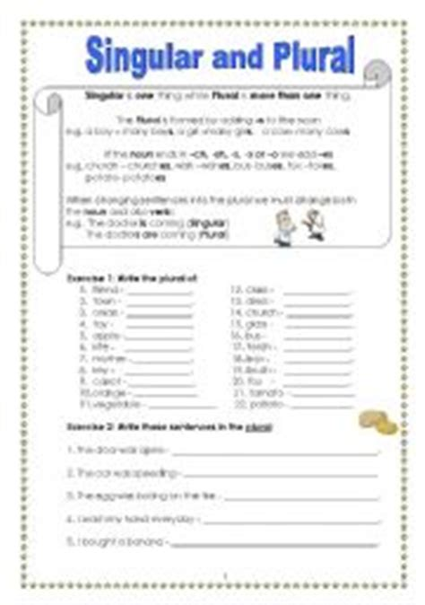 Plural Mba Or Mba S by Singular Plural Worksheets