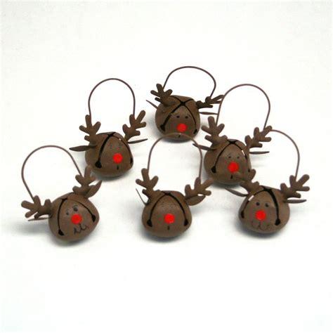 reindeer ornament reindeer bell ornaments