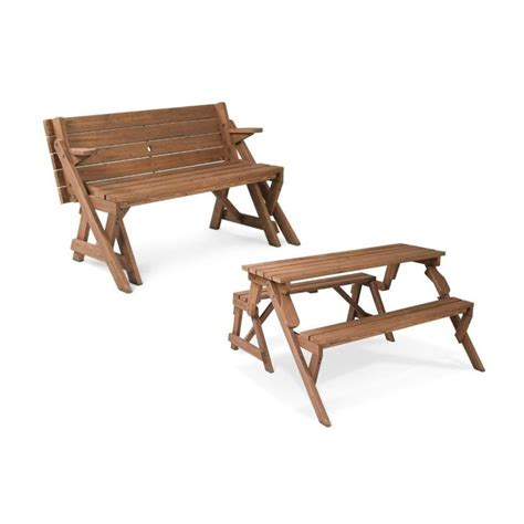 picnic bench table shop leisure season 4 ft 7 in brown wood rectangle picnic