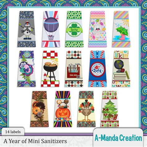 sanitizer label template a year of printables mini sanitizer sticker labels