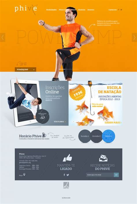 home care website design inspiration phive health and fitness center webdesign inspiration