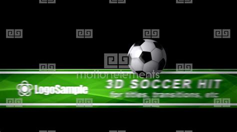 soccer ball hit cs4 after effects project royalty free
