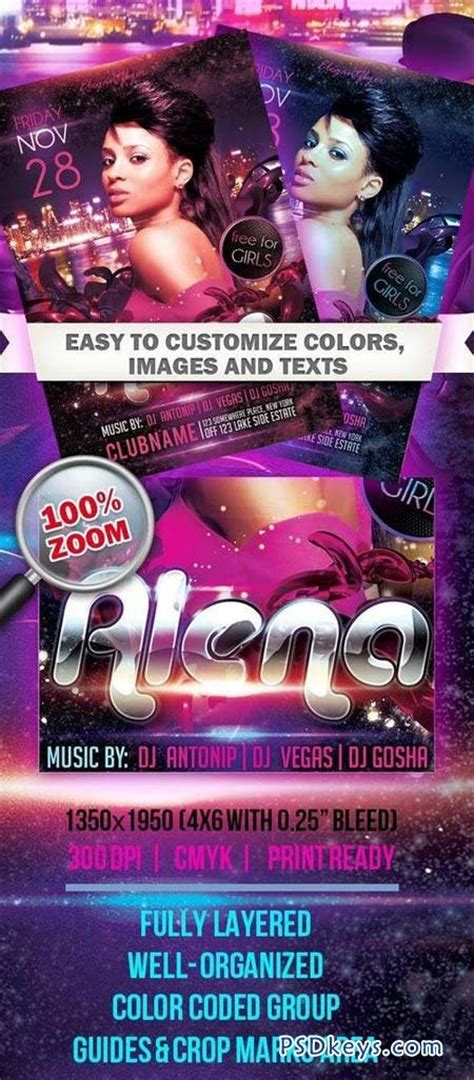 dj flyer template 11572206 187 free download photoshop guest dj party alena club and party flyer psd template