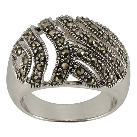 sterling silver marcasite peacock ring jewelry rings