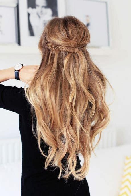 hochsteckfrisuren lange haare halboffen