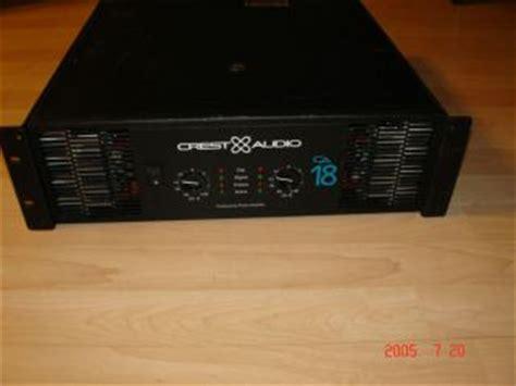 Power Lifier Crest Audio Ca 18 Crest Audio Ckv 800 Professional Power Lifier 2 Channel 400w Ckv800 On Popscreen