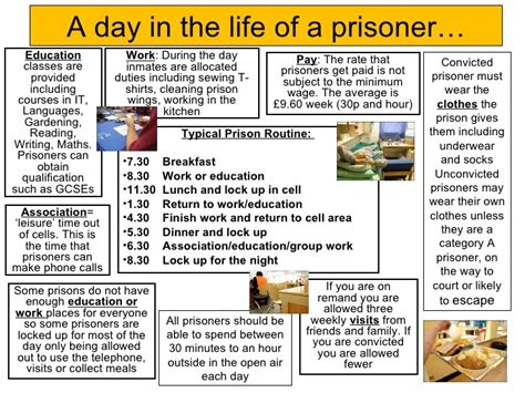 the life of a the day in the life of a prisoner