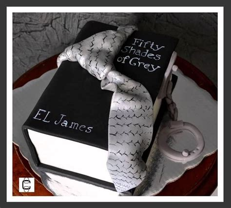 50 shades of grey book cake pastel del libro 50 sombras de grey 50th 50 shades