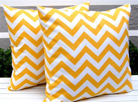 Yellow Chevron Pillow by Chandeliers Pendant Lights