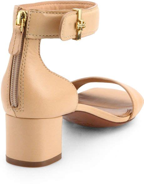 burch pink sandals burch tana leather sandals in pink lyst