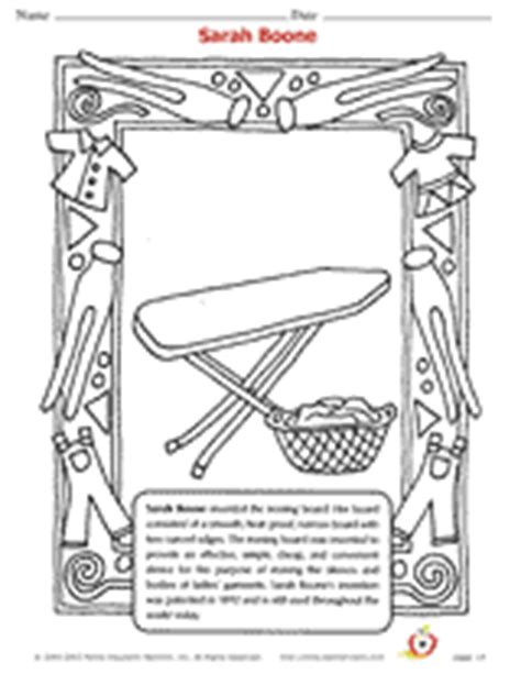 sarah boone book colouring pages