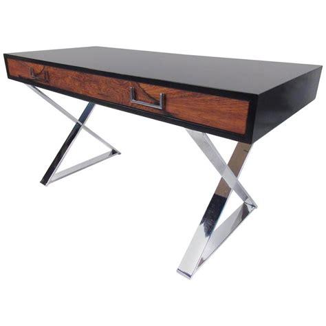 milo baughman quot x quot base caign desk for thayer coggin for