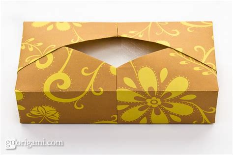 Origami With Tissue Paper - origami tissue box by paul ee single sheet origami go