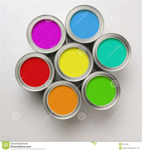 paint images paint cans in a circle royalty free stock image image