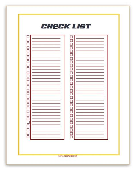 Checklist Template Microsoft Office Templates Microsoft Checklist Template