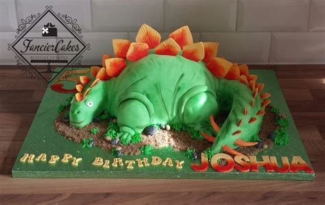 Handcrafted Cakes - handcrafted 3d dinosaur birthday cake fancier cakes