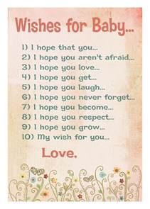 baby wishes quotes quotesgram