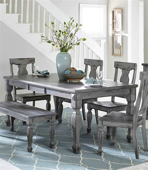 gray dining room table homelegance fulbright rectangular dining table with