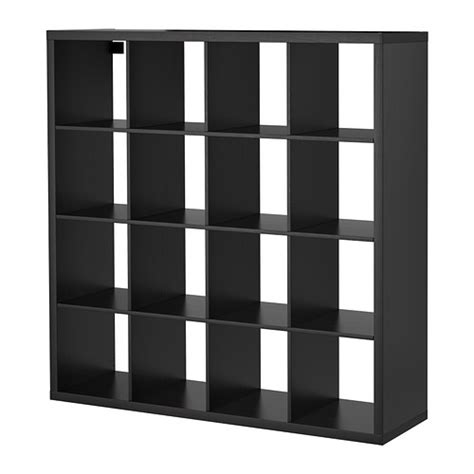 Cube Room Divider Kallax Shelving Unit Black Brown Ikea
