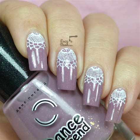 nail art lace tutorial lace half moon nail art with tutorial lucy s stash