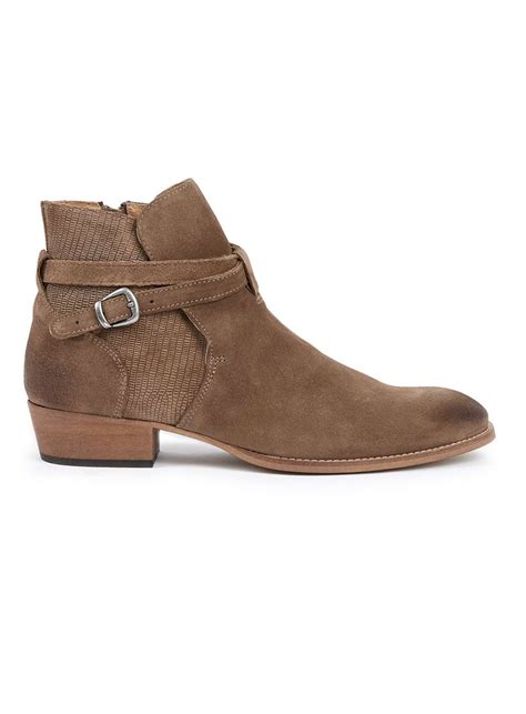 beige suede buckle boots s boots shoes and