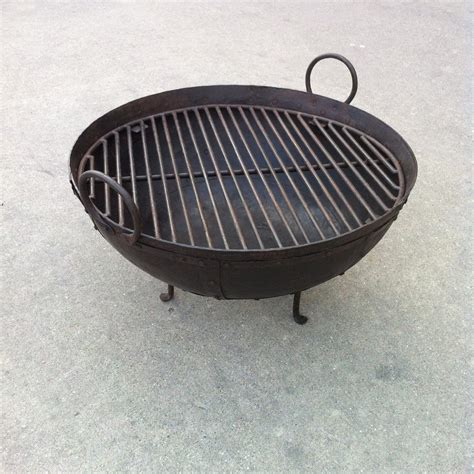 pit grill grates steel firebowl pit from india w grill grate and