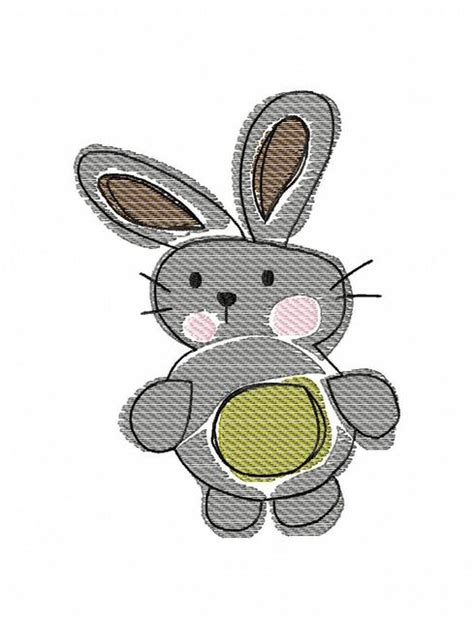 embroidery design rabbit bunny 150 sketch embroidery design easter sketch