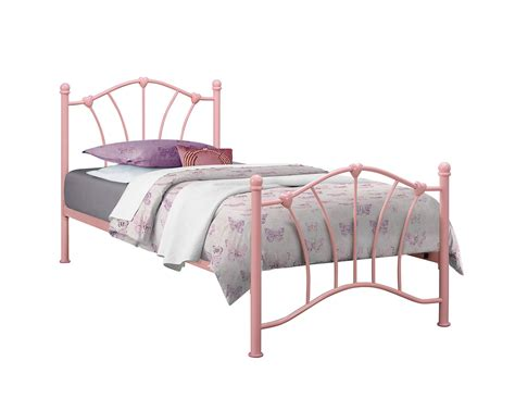 girls bed frames birlea sophia pink single 3ft 90cm girls metal bed frame