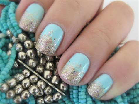 tutorial nail art polveri glitter mint and gold gradient glitter nail art tutorial makeup