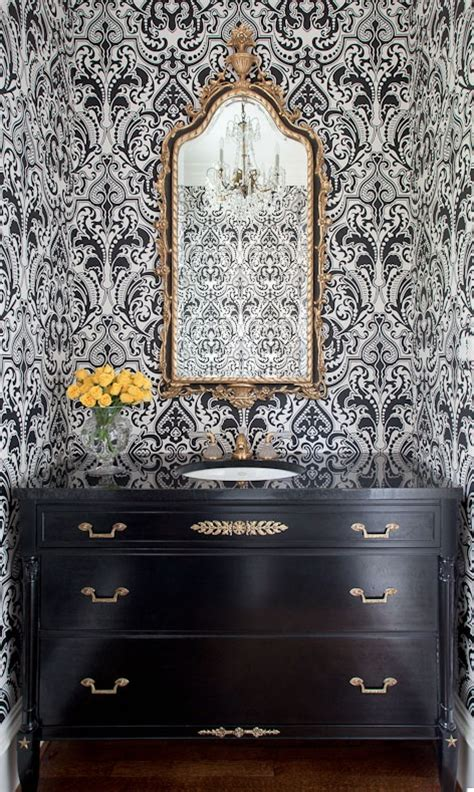 how to wallpaper a bathroom all that glitters is gold 10 drop dead gold bathrooms